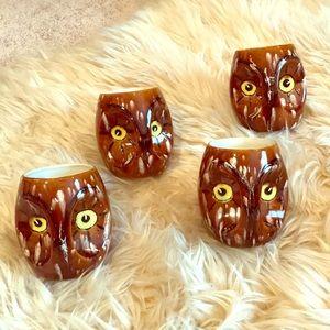1970's Vintage Ceramic Owl Mugs!